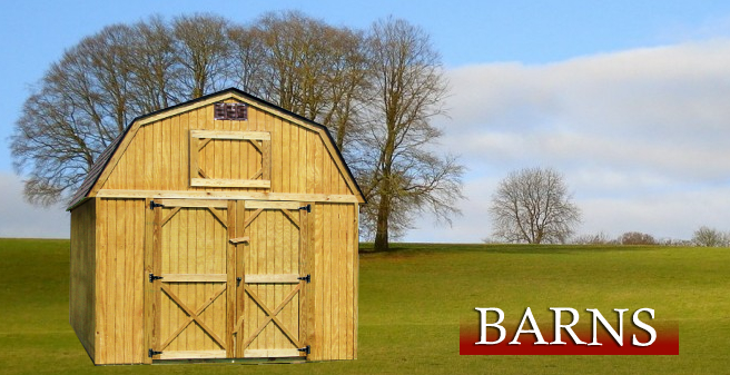 Barns, Derksen Portable Buildings Barn Banner