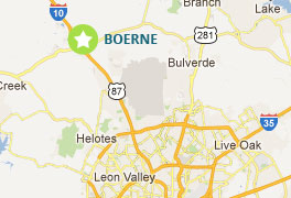 Boerne, Texas Map Portable Buildings map of Boerne, TX