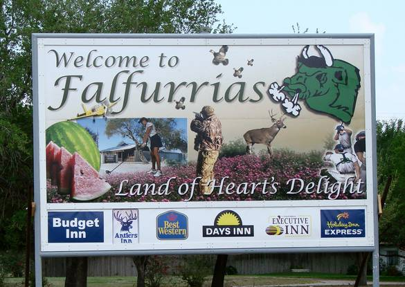 Falfurrias, Texas Welcome Sign