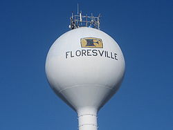 Floresville Texas  City watertower
