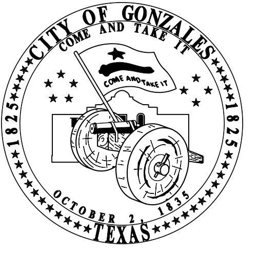 City of Gonzales Come and take it Gonzales, Texas City Seal