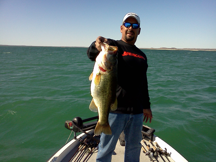 Raul Cordero from Farwest Guide Service on Lake Amistad in Del Rio, Texas