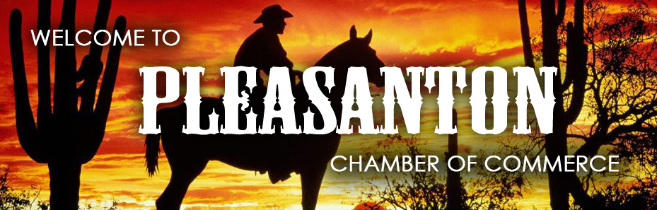 Pleasanton Chamber of Commerce Pleasanton, Texas Banner