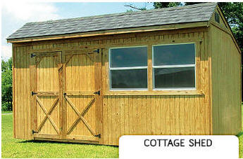 Treated Buildings Derksen Portable Buildings Treated Cottage Shed