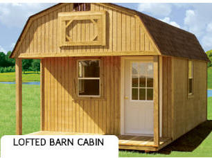 Treated Buildings Derksen Portable Buildings Treated Lofted Barn Cabin