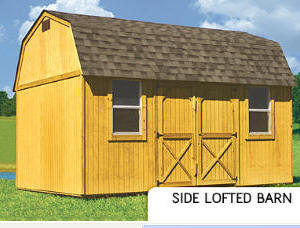 Treated Buildings Derksen Portable Buildings Treated Side Lofted Barn